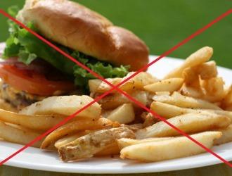 Про жирную пищу придется забыть